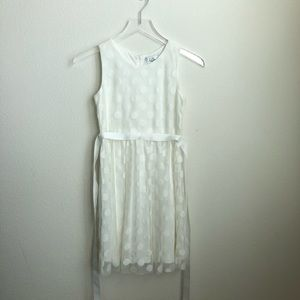 Us Angels White Polka Dot Dress, Size 12